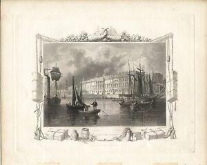 26 antiche stampe TOMBLESON 80 VIEWS ON THE THAMES,1845: L.AV: SCORRI E  SCEGLI