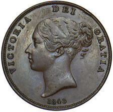 More details for 1848 penny - victoria british copper coin - very nice