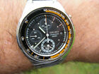 SEIKO DIVERS PILOT CHRONOGRAPH TACHYMETER DIVERS FIXED BEZEL 7T62-0AX0 RARE FIND