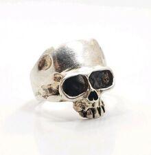 Great Modern Sterling Silver 925 Men's Skull Ring Size 8.5