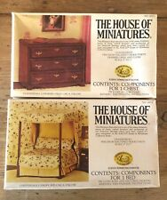 1//12 CHIPPENDALE FIRE SCREEN KIT #40057 THE HOUSE OF MINIATURES FACTORY SEALED