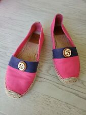 Tory Burch Beacher Slip On Espadrilles Flats Shoes size 7.5