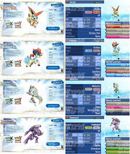 All 20 GF Event Mythical Legendary Pokemon Ruby Sapphire ORAS Sun Moon Ultra 3DS