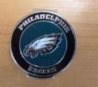 "Philadelphia Eagles NFL 1"" Golf Ball Marker 2 side & Hat Clip"