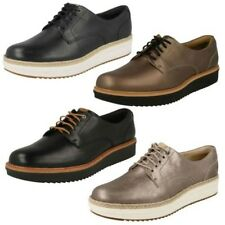 Ladies Clarks Brogue Style Casual Lace Up Leather/Suede Shoes Teadale Rhea