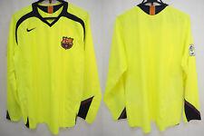 2005-2006 FC Barcelona Barca Jersey Shirt Camiseta Away Nike Long Sleeve L/S XL