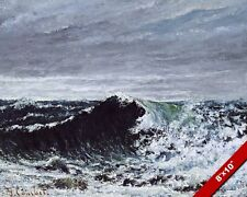 THE WAVE WINTER OCEAN SEASCAPE PAINTING GUSTAVE COURBET ART REAL CANVAS PRINT