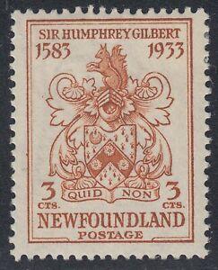 Newfoundland # 214 Mint Hinged Very Fine Single