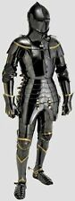 Black Stainless Steel Medieval Knight Suit Of Armor Combat Full Body Armour