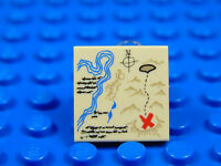 LEGO-MINIFIGURES SERIES X 1 TAN TILE 2 X 2 PIRATE TREASURE MAP ON THE FRONT PART