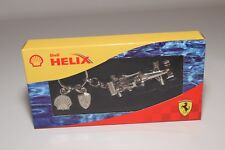 V 1:87 SHELL V-POWER HELIX FERRARI KEYRING FORMULA 1 F1 RACING CAR CHROME MIB
