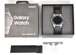 Samsung Galaxy Watch SM-R805U 46mm Silver Case Black Strap Smart Watch