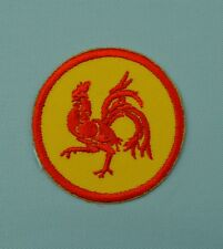 patch, écusson coq wallon, brdoé , thermocollant   5cm