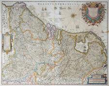 HONDIUS BELGII SIVE GERMANIAE INFERIORIS BELGIEN NIEDERLANDE WAPPEN 1638