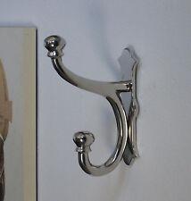 Wandgarderobe XXL 23 cm x 6 cm Garderobenhaken Garderobe Jugendstil Luxus Silber