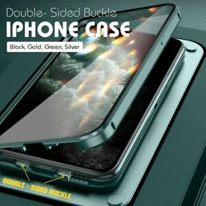 Hot Double-Sided Buckle Case for iPhone | 360 Magnetic Adsorption Metal Case