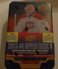 2013-14 13/14 UD Hockey Series 1 Factory Sealed Tin 3-YG and More Per Box