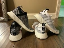 Adidas NMD_CS2 Primeknit and NMD_R2 Shoes- Women's Size 7, Black/Pink Lot Of 2