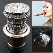 12V Crystal Car 20mm Power Plug Socket Output Cigarette Lighter Ignition Silver