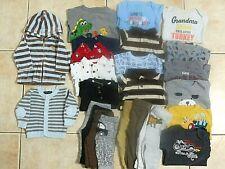 Lot 24 Pc Infant Boys Clothes Long Sleeve Top Pants 3-6 month Carters Garanimals