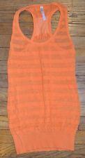 Tricot Joli Long Orange Sleeveless Top Racerback Top Size Small Semi Sheer