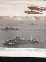 49300 Ephemera 1939 Picture Royal Navy Home Fleet Weymouth Bay Dorset