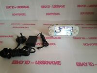 OFFICIAL CERAMIC WHITE SONY PSP 1003 CONSOLE MODDED + 128GB MEMORY