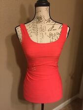 Hot from Hollywood Pink coral-ladies spandex Scoop Tank one size  sleeveless