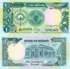 1 SUDANESE POUND BANKNOTE P39 1987 SUDAN UNC