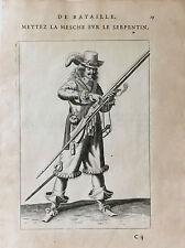 De Lostelneau mousquetaire mousquet uniforme XVII Louis XIV estampe 1647 France