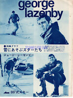 JAMES BOND OHMSS RARE 2-SIDED 1969 JAPANESE CLIPPING GEORGE LAZENBY ON SET