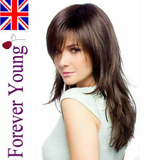Full Ladies Brown Black Fashion Wig Hair Forever Young Wigs UK