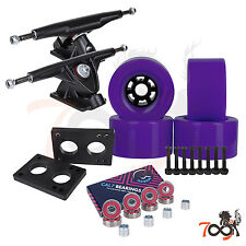 Cal 7 Longboard Flywheel 180mm Truck Bearing 90mm Purple Skateboard Wheels