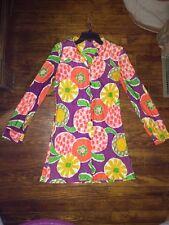 Womens Vintage Gogo Dress Shift Shirt Dress Size Small