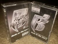 BOTH VOLUMES 1 & 2 RUFF RYDERS- RYDE OR DIE  CASSETTE TAPES 1999/2000 INTERSCOPE