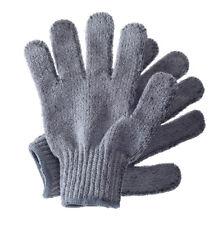 Hydrea London ducha guantes gris carbonizar esponja de baño exfoliante cuerpo pi