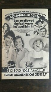 Vintage 1982 The Dukes of Hazzard Full Page Original TV Series Ad 721