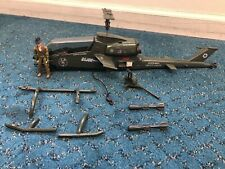 Vintage 1983 Hasbro GI Joe Dragonfly Helicopter W/ Wild Bill Incomplete