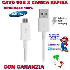 CAVO USB X CARICA RAPIDA VELOCE ORIGINALE SAMSUNG GALAXY S6 S7 NOTE 5 BIANCO