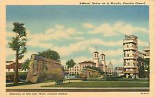"""HABANA CUBA """"RESTOS DE LA MURALLA ESTACION CENTRAL"""" CITY WALL/STATION 1949 P/C"""