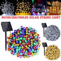 50-300 LED Outdoor Solar Power String Light Garden Christmas Fairy Xmas Decor