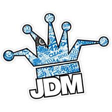 JDM CLOWN CROWN BOMB BLUE JDM Car Sticker Decal Drift Jap Car  #0682EN