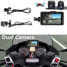 "1Pc 3"" Lcd 140° Wide Angle Motorcycle Dvr Waterproof Dual Camera Video Recorder"