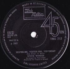 Stevie Wonder ORIG UK 45 Yester-me yester-you VG+ 1969 Motown Soul
