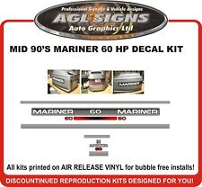 Mid 90's MARINER 60 HP  Reproduction Decal Kit