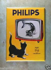 "Vintage Style TV Advertising Fridge Magnet 2.5"" x 3.5"" Philips Black Cat Fish"