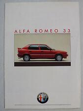 Prospekt Alfa Romeo 33 1.3, 1.7 QV, 5.1987, 8 Seiten, folder
