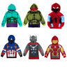 Kids Boy Hulk Costume Outerwear Toddler Hoodie Jacket Winter Sweatshirt Clothes