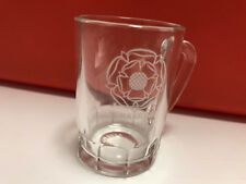 Mini YORKSHIRE Beer Stein Shot Glass Mug Miniature Clear Small Handle Shooter