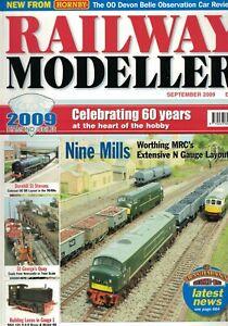 Railway Modeller Magazine 2009 September Nine Mills Hornby 00 Devon Belle